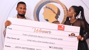 A YOUNG NIGERIAN COSMETICS BUSINESS MAN, STANLEY WINS THE LEGENDS REALITY TV SHOW 2020